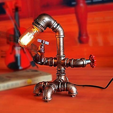 XSPWXN Lampe de table 2017 Nouvelle arrivée E27 1 lumière rétro Vintage Edison ampoule lampe de table lampe à eau tube léger lampe de table lampe de table pour lampadaires Décoration intérieure