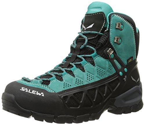 Salewa Ws Alp Flow Mid Gtx, Chaussures de Randonnée Hautes femme Turquoise (Venom/bright Acqua 8457)