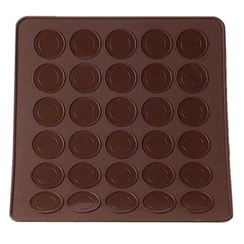 Macarons Backmatten aus Silikon für perfekte Makronen 30 Mulden antihaftbeschichtet 25.5 x 28.7 cm