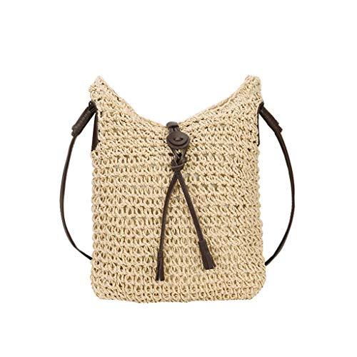 LILIHOT Damen Wild Grass Weave Umhängetasche Sommer Damentasche Crossbody Schulter Tasche Freizeit Handtaschen GroßEr KapazitäT Tasche Casual Abendtasche -