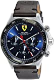 Scuderia Ferrari Homme Chronographe Quartz Montres bracelet avec bracelet en Cuir - 830435