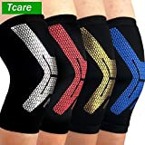 Shoppy Shop 1Pcs Compression Knee Sleeve Breathable Knee Support Brace for Running Basketball