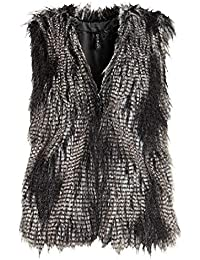 Gilet di Pelliccia Donna Invernali Eleganti Smanicato Pelliccia Sintetica  Giacca Vintage Fashion Caldo Vita Alta Canottiera 76c0c79edf4