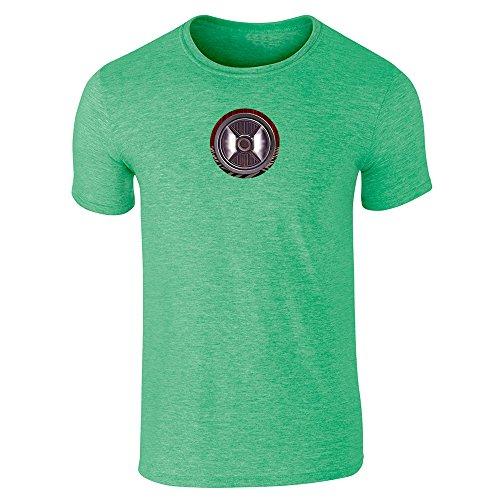 Pop Threads Herren T-Shirt Grün (Heather Irish Green)