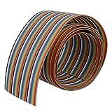 PIXNOR Flachbandkabel 40 polig bunte Flexible Flachbandkabel 1M langen 2 Zoll Breite