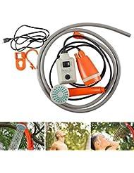 ACC Conjunto de Cabezal de Ducha eléctrico Recargable USB para Ducha al Aire Libre portátil 2200mha, Adecuado para Viajes, Senderismo, camión, Furgoneta, Limpieza, jardín, Limpieza de Mascotas