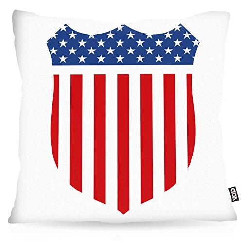 VOID USA Medal Flag Flagge Stars and Stripes Kissenbezug Kissenhülle Outdoor Indoor, Kissen Größe:40 x 40 cm