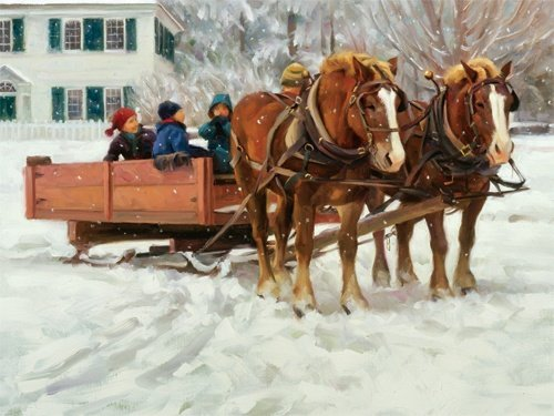 Snow in the Park Jigsaw Puzzle