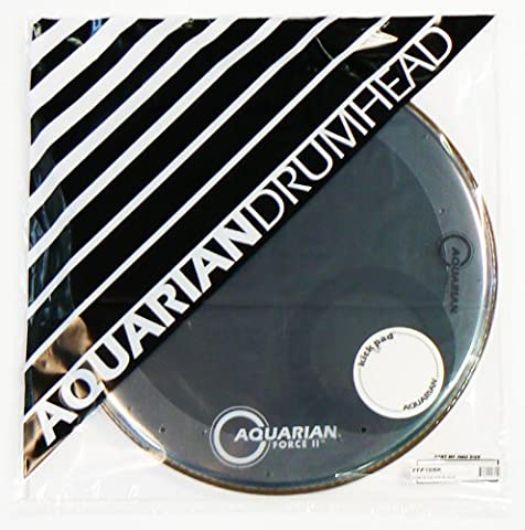 Aquarian Drumheads FFP18BK Full Force Packs 18-inch Bass Drum Head, gloss black