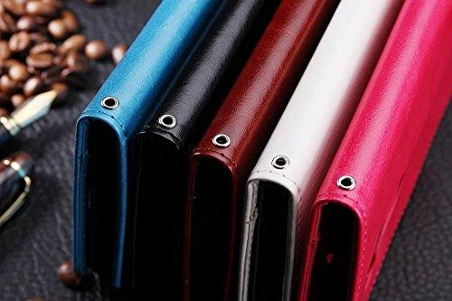 Wkae Case Cover Sansung J7 Fall feste Folio magnetische Design Flip Brieftasche Stil Fall Farbmuster PU-Leder-Abdeckung Standup-Abdeckungsfall für Sansung J7 ( Color : Red , Size : Sansung J7 ) White