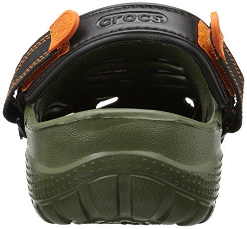 Crocs Yukon Sport, Sabots homme Vert (Army Green/Black)
