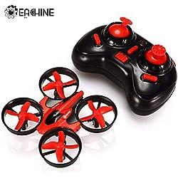 EACHINE E010 Mini Drone 2.4G 4Canales 6 Ejes Radio Control Modo sin Cabeza Drones para Niños (Rojo)