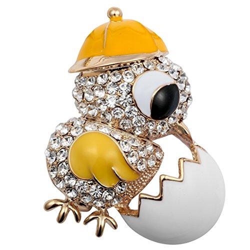 tern Kristall Neugeborene Chick Ei Brosche Pin Anhänger für Ihre ()