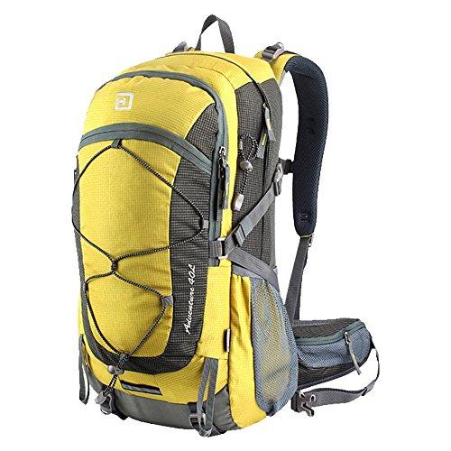 Duhud 40L del pacchetto della pagina leggeri Zaini in bicicletta di campeggio d'escursione Trekking Walking zaino con la copertura della pioggia - Borsa Piccola Corda Borsa