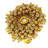 #5: Anuradha Art Golden Finish Very Classy Royal Look With This Traditional Finger Ring For Women/Girls