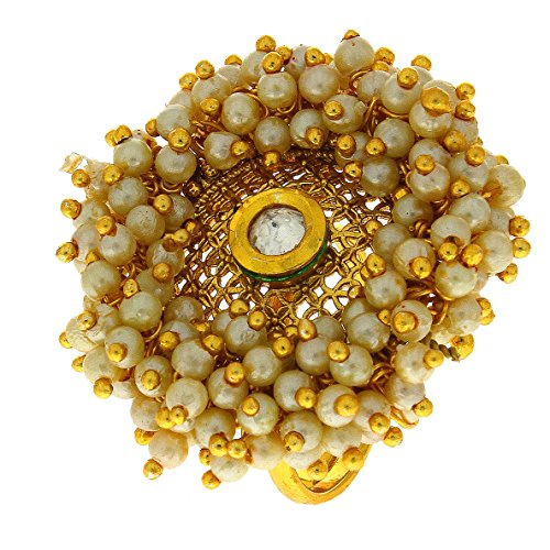 Anuradha Art Golden Finish Very Classy Royal Look With This Traditional Finger Ring For Women/Girls