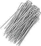 GardenGloss® 100 Premium Anti-ROST Erdanker aus gehärtetem Stahl - Stabile Heringe Erdnägel für Unkrautvlies, Zaun & Camping - 150 MM Lang, 30 MM Breit, Ø 3 MM