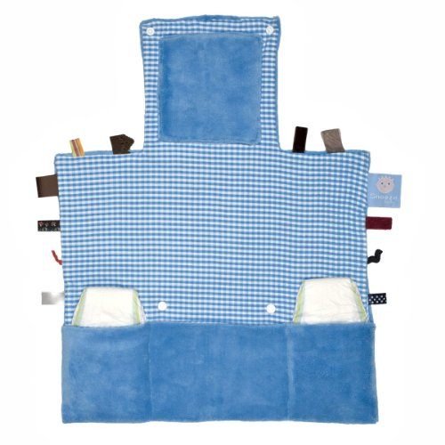 Snoozebaby  2208 – Easy Changing Mobile Wickelunterlage deluxe blue, zusammengefaltet nur 25 x 20 x 10 cm groß