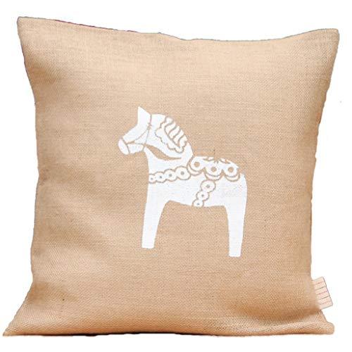 Jutekissen * Dala-Pferd* Kaffeesack schwedisches Pferd