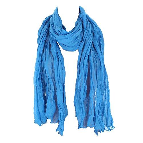 Leichter Damen Schal Nr. 374 viele Farben Hellblau