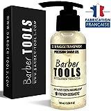 BARBER TOOLS  Gel de afeitado transparente de 100 ml - Para un afeitado preciso de los contornos de la barba (visibilidad, deslizamiento y máxima protección) - MADE IN FRANCE