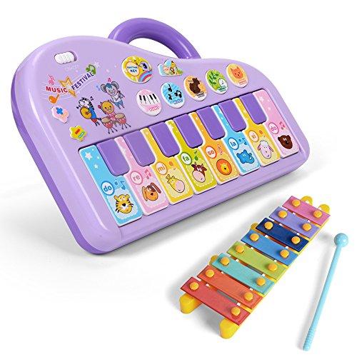 Nextx tastiera giocattolo - pianoforte musicale per bambini - gioco educativo prima infanzia - ottimo regalo di natale o compleanno per bimbi 3+ anni (color lilla)