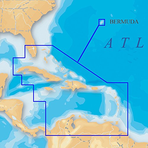 Bermuda-chart (Navionics SD/908P-2 Platinum+ SD 908 Karibik und Bermuda Nautical Chart auf SD/Micro-SD Karte)