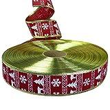 1 x Geschenkband mit Weihnachtsmotiven und glitzernden Geschenkband für Urlaubspartys, Stoff, I, 200 * 5cm