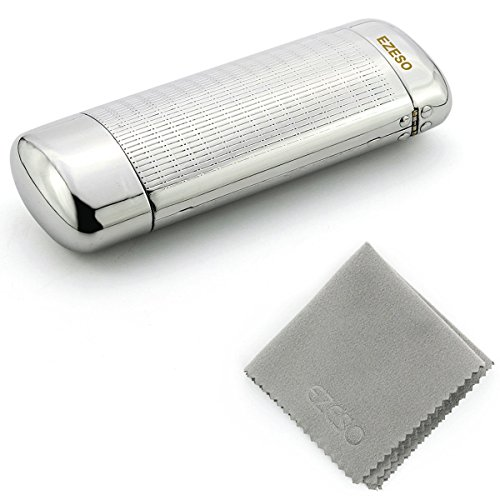 ezeso-spectacles-case-hard-silver-aluminum-metal-glasses-protective-case-small-frame-1pcs-case-cloth