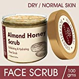 #6: Almond Honey Face Scrub | 100 g | Wash/Cleanser | Dry & Sensitive Skin | Hydrating & Exfoliating | Chemical Free |