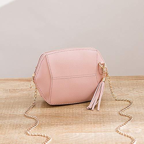 Romantic-Z 2018 Neue Fringe Crossbody Bag Frauen Clutch Bag Mädchen Mode Messenger Schultertasche Handtaschen Damen Quaste Mode Mini Shell Taschen, Pink -