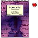 Serenade für Violine und Klavier - eine Fundgrube für Liebhaber der klassischen Violinmusik - geeignet beispielweise für Wettbewerbe wie Jugend musiziert - Notenbuch mit Notenklammer