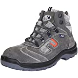 Allen Cooper AC-1464 Safety Shoe, Double Density DIP-PU Sole, Grey, Size 7