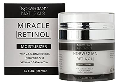 Norwegian Naturals Retinol Cream Moisturizer With Hyaluronic Acid Serum Clinical Strength