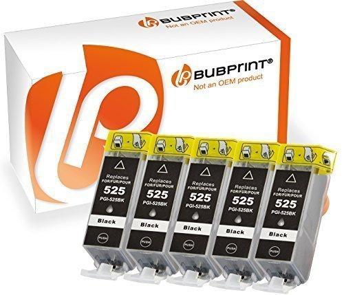 Bk Kompatible Tinte (Bubprint 5 Druckerpatronen kompatibel für Canon PGI-525PGBK PGI 525 BK für Pixma IP4850 IP4950 IX6550 MG5150 MG5250 MG5350 MG6150 MG6250 MG8150 MG8250)