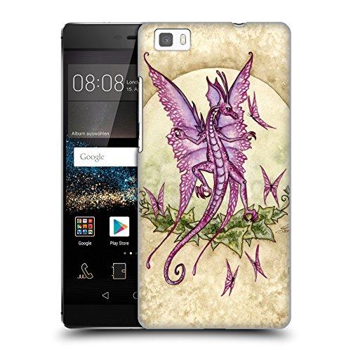 Head Case Designs Offizielle Amy Brown Tanzende Drachen Mythisch Ruckseite Hülle für Huawei P8lite / ALE-L21