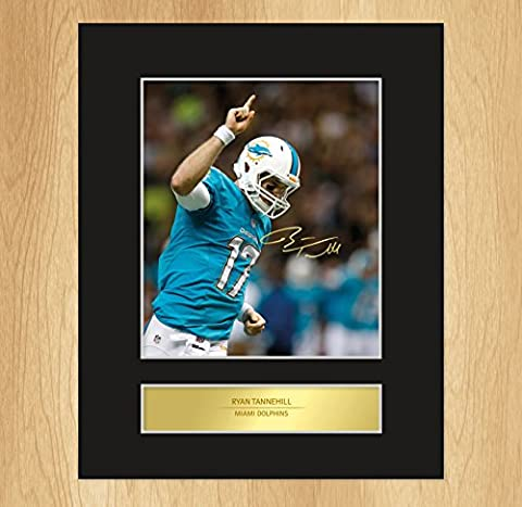 Ryan Tannehill Signed Mounted Photo Display Miami Dolphins