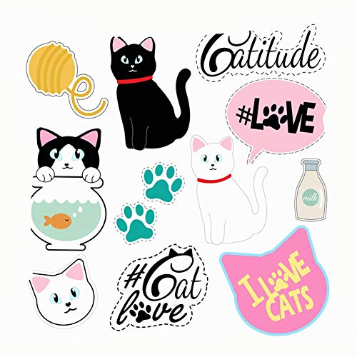 Kailey hello Home Fashion Pillowcase Set Clip Art Patches Cats Stuff Animals Wildlife Girly Animals Wildlife 18x18 IN