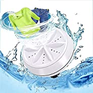 Portable Ultrasonic Washing Machine,Mini Turbo Washer, Turbine Sterilizes Compact Washer with USB for Travel,