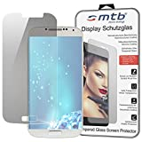 mtb Display Schutzglas aus Tempered Glass für das Samsung Galaxy S4 und S4 VE Value Edition (GT-i9500, i9515) - 9H - 2.5D - Schutzfolie Glasfolie Protector