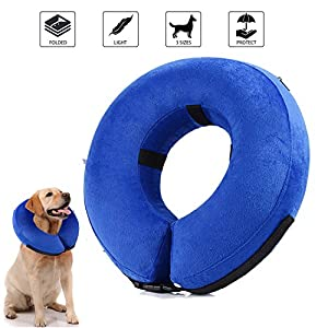 cirugía mascota: YAMI Collar hinchable para recuperación de perros, collar ajustable para recuper...