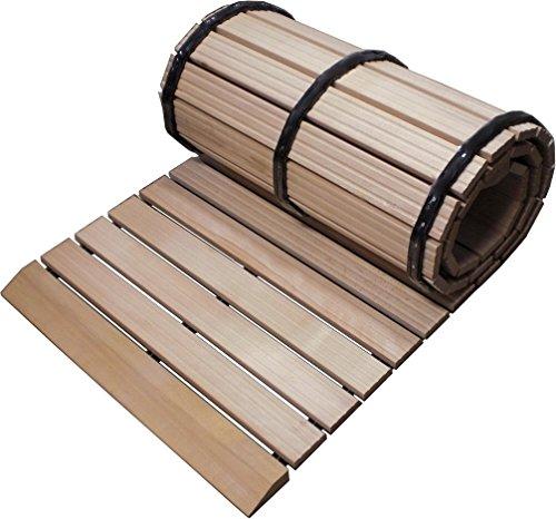 Komfort-Holzlaufrost aus kammergetrockneten Buchenholz, umlaufend Stumpf, 100 x 200 cm