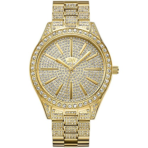 JBW Women's Cristal Diamond 39MM Swiss Quartz Gold-Tone DIAL Watch J6346A