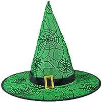 fa8429908f854 LANDFOX Halloween Hexenhut Schwarzer Hexen-Hut der Erwachsenen Frauen für  Halloween-Kostüm-Zusatz