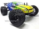Truggy XXX Sword Off Road 1/10Brushless Motor Elektro Radio 2.4GHz RTR 4WD mit Doppel Rahmen aus Metall und omocinetici von Serie VRX Karosserie blau und grün
