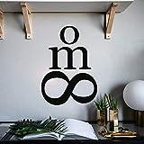 guijiumai Letras Om Vinilo Tatuajes de Pared Yoga Studio Infinito Símbolo Pegatinas de...