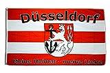 Fahne / Flagge Düsseldorf Meine Heimat - meine Liebe + gratis Sticker, Flaggenfritze®