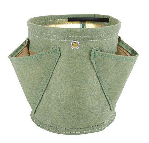 BloemBagz Erbario: Vaso per erbe aromatiche piccolo con 3 tasche Colore: Living Green
