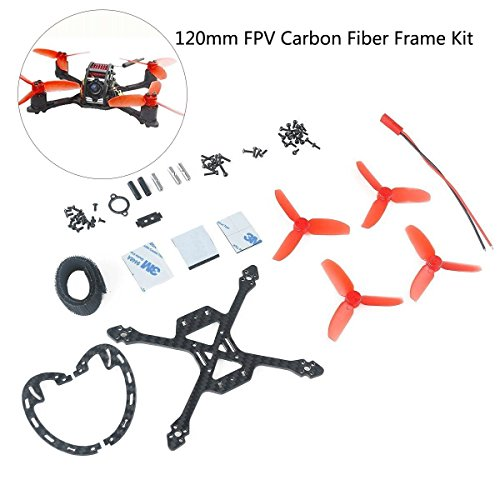 FancyWhoop 120mm Quadcopter Carbon Fiber Suitably Kit mit 2,7 Zoll Propeller für Micro FPV Racing Drone Validate 1103 1104 1105 1106 Brushless Motors etc