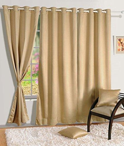 Super India Blackout Beige Long Door Curtain 1 piece